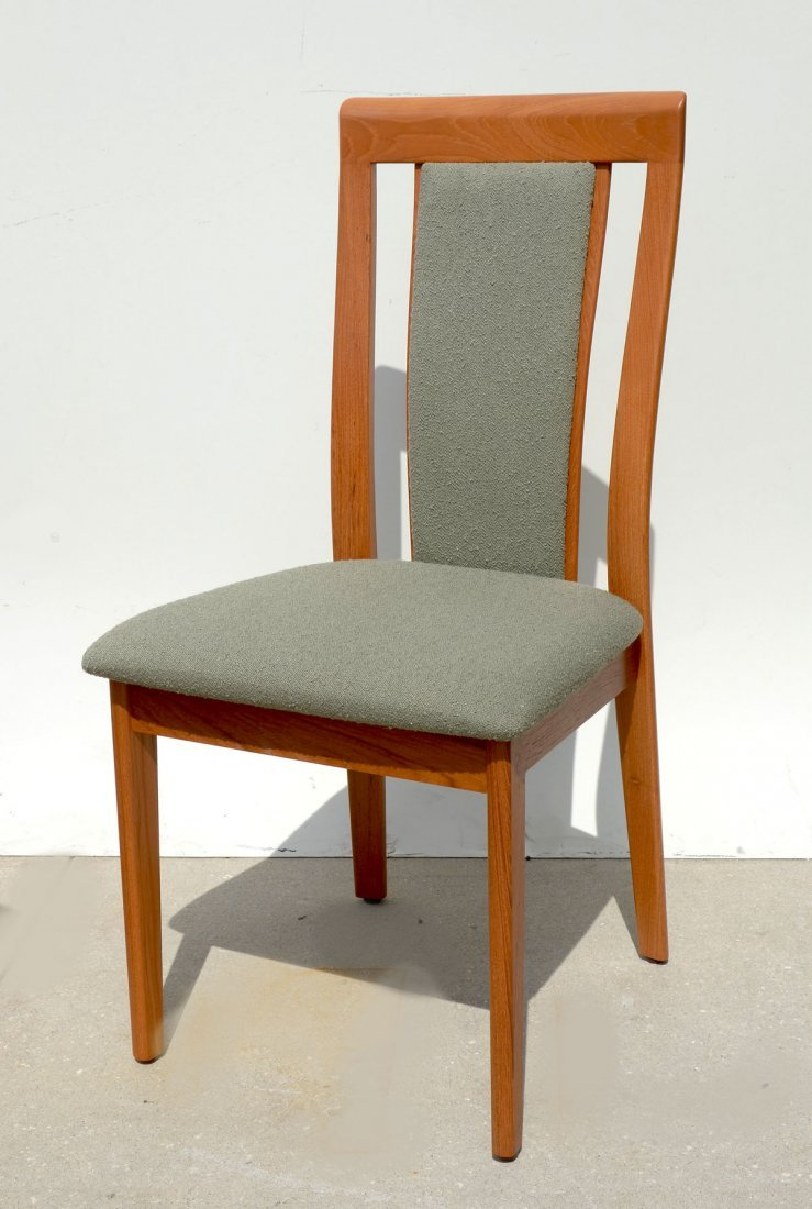 DANISH DINING TABLE & 6 CHAIRS - 7