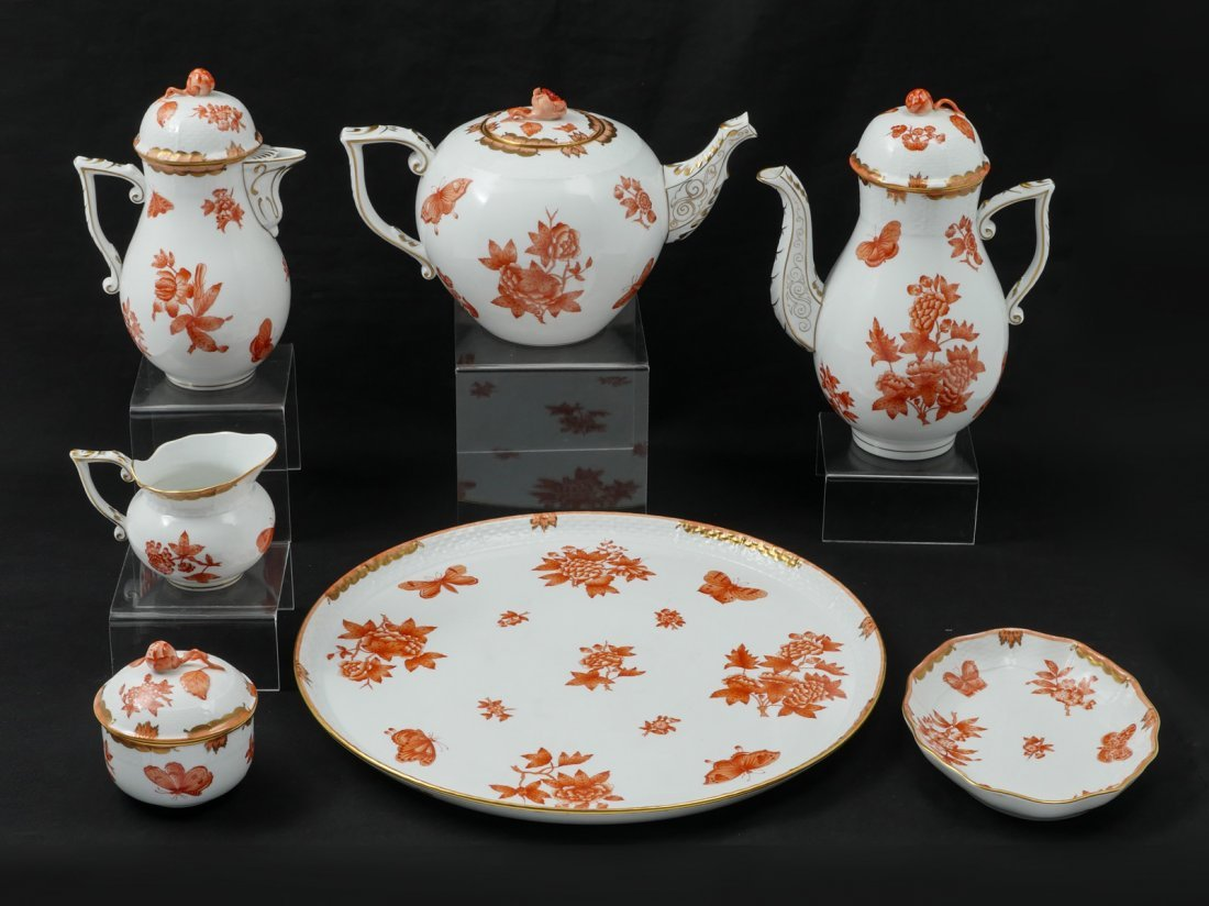 HEREND PORCELAIN TEA SET