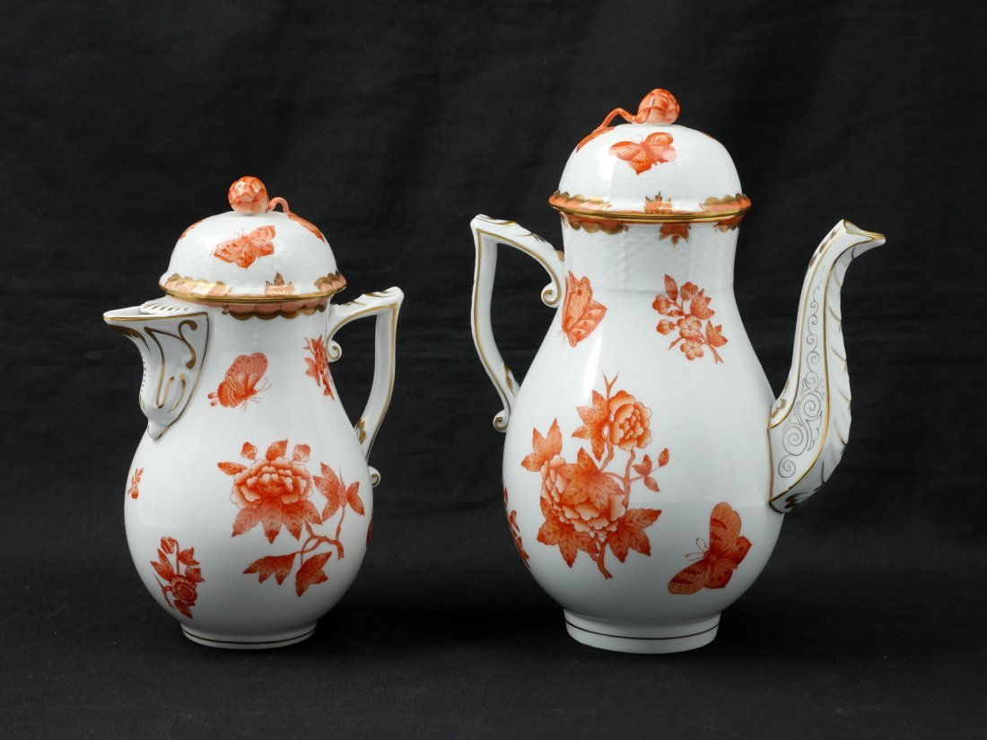 HEREND PORCELAIN TEA SET - 4