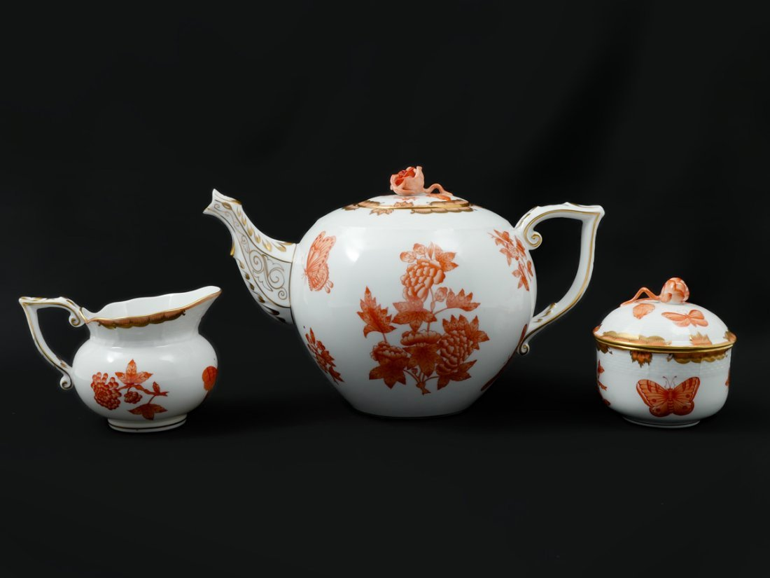 HEREND PORCELAIN TEA SET - 5