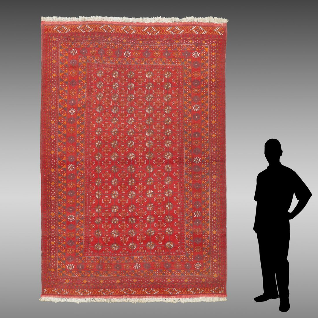 """PAKISTAN BOKHARA HAND KNOTTED RUG, 6'5"""" X 9'4"""""""
