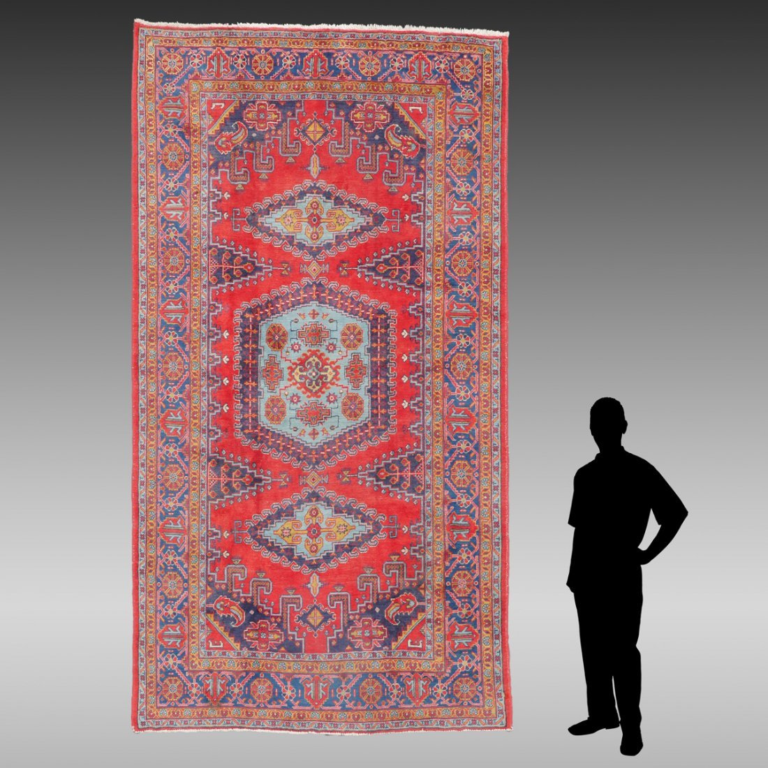 "PERSIAN HAMADAN HK WOOL VILLAGE RUG, 6'9"" X 11'6"""