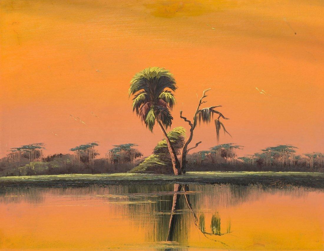 GIBSON FLORIDA HIGHWAYMEN ORANGE SKY PAINTING