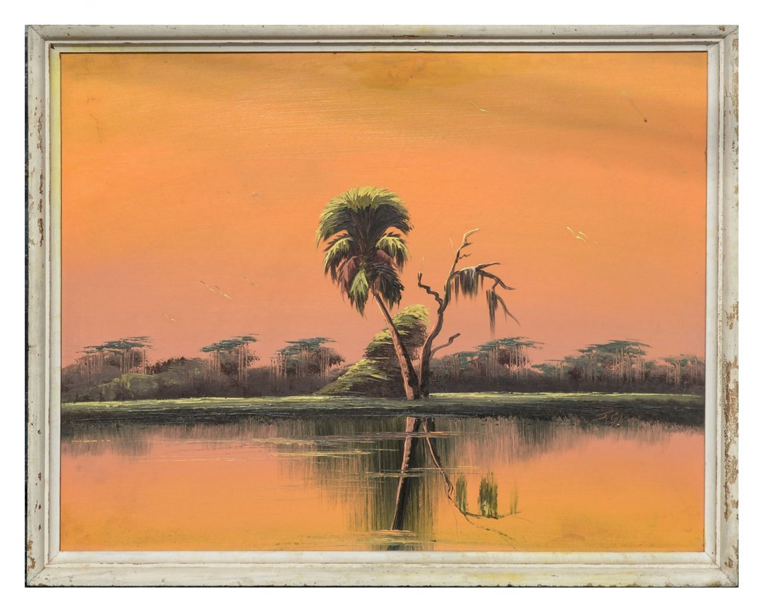 GIBSON FLORIDA HIGHWAYMEN ORANGE SKY PAINTING - 2