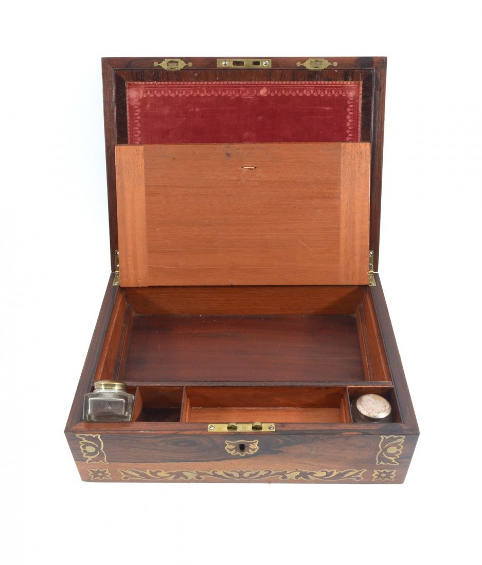 BOULLE INLAID ROSEWOOD LAP DESK - 2