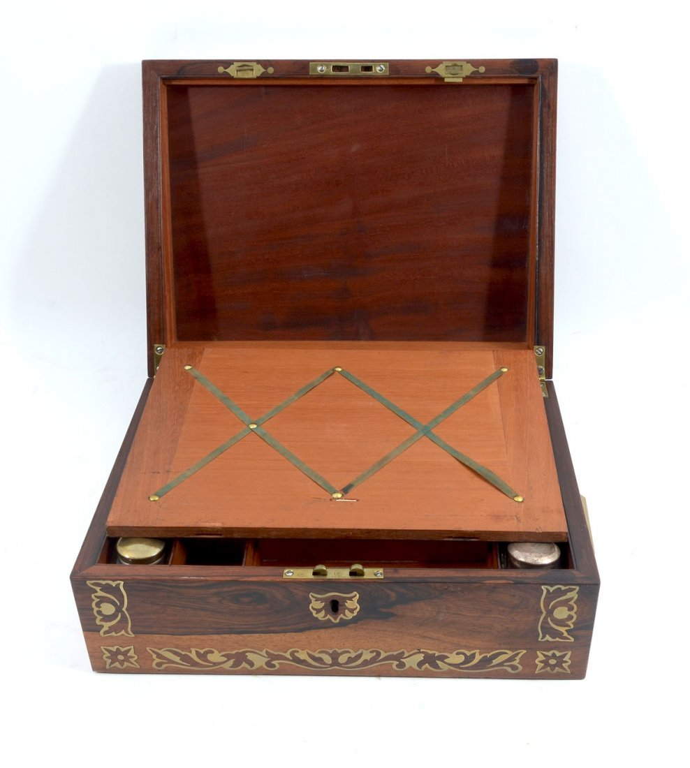 BOULLE INLAID ROSEWOOD LAP DESK - 3