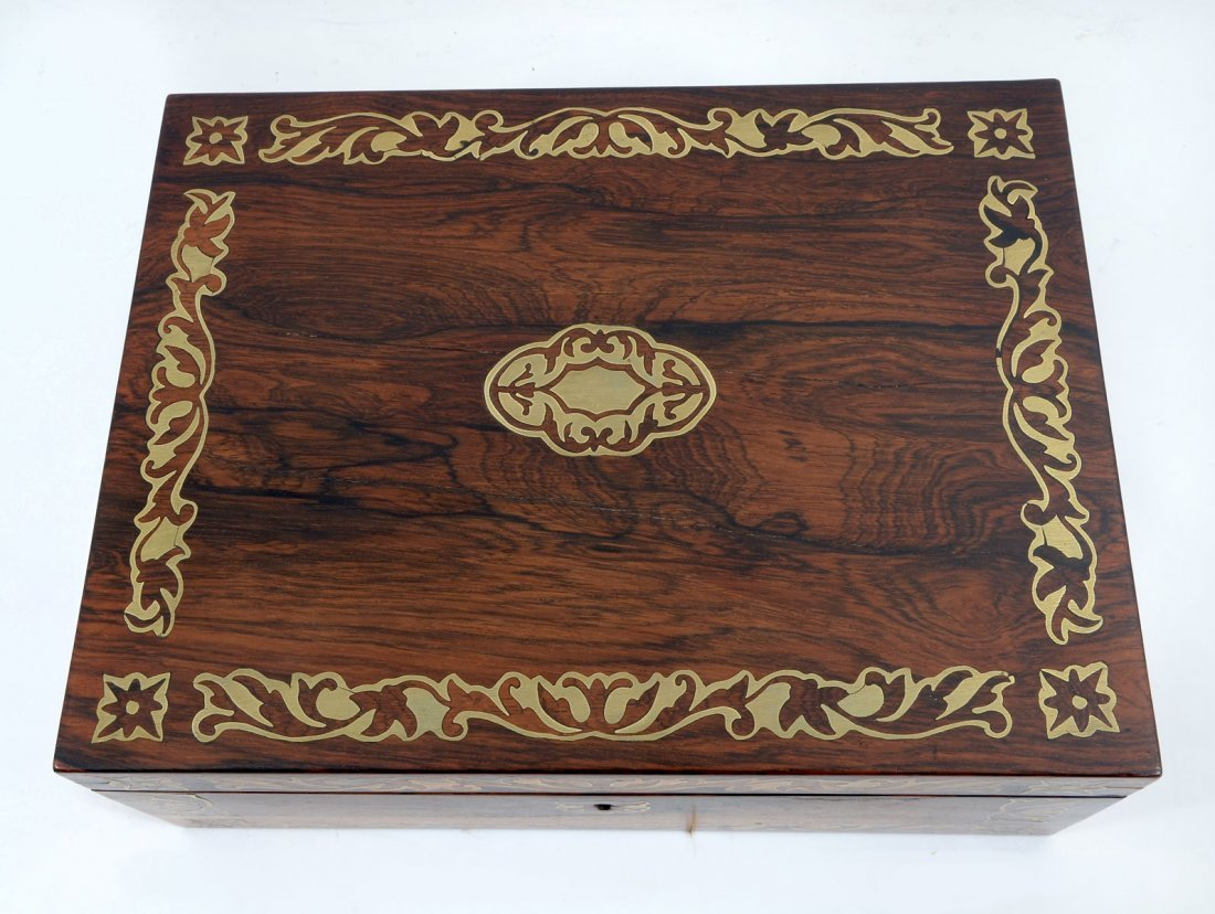 BOULLE INLAID ROSEWOOD LAP DESK - 4