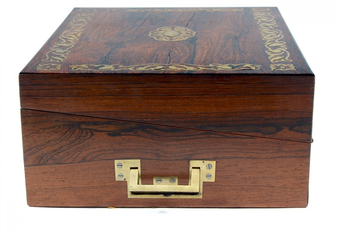 BOULLE INLAID ROSEWOOD LAP DESK - 5