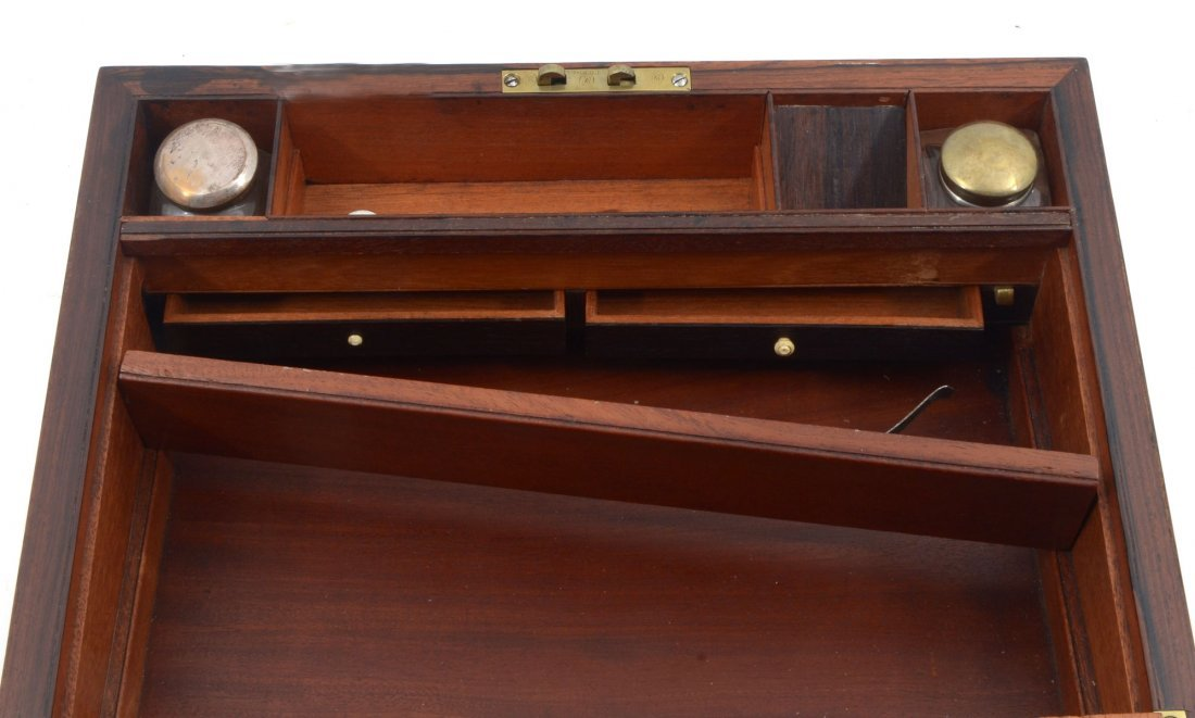 BOULLE INLAID ROSEWOOD LAP DESK - 7