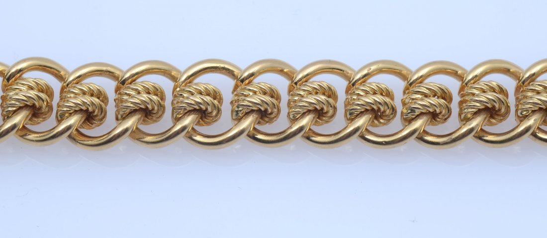 18K MID CENTURY ENGLISH MULTI-LINK BRACELET - 3