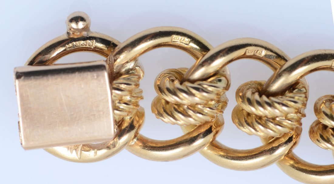 18K MID CENTURY ENGLISH MULTI-LINK BRACELET - 6