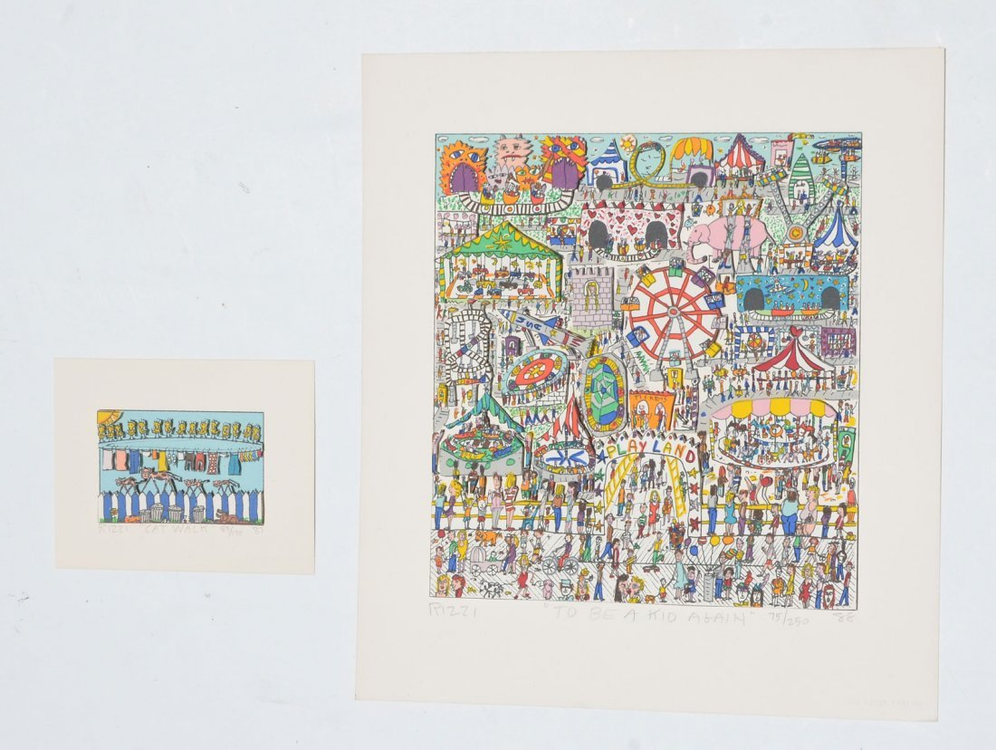 TWO JAMES RIZZI 3D SERIGRAPHS