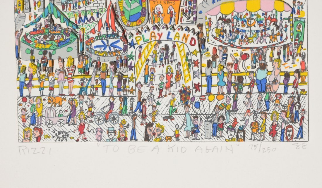 TWO JAMES RIZZI 3D SERIGRAPHS - 2
