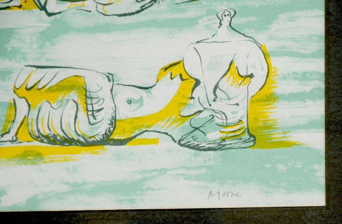 HENRY MOORE RECLINING FIGURES LITHOGRAPH - 3