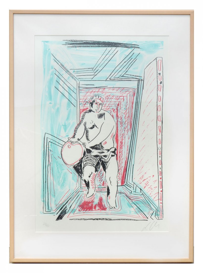 "SANDRO CHIA LITHOGRAPH ""THE PAINTERS DANCE"" - 2"