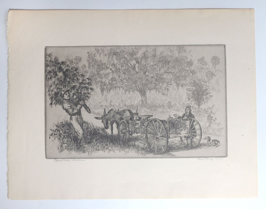 COLLECTION OF 7 KENT HAGERMAN ETCHINGS - 10