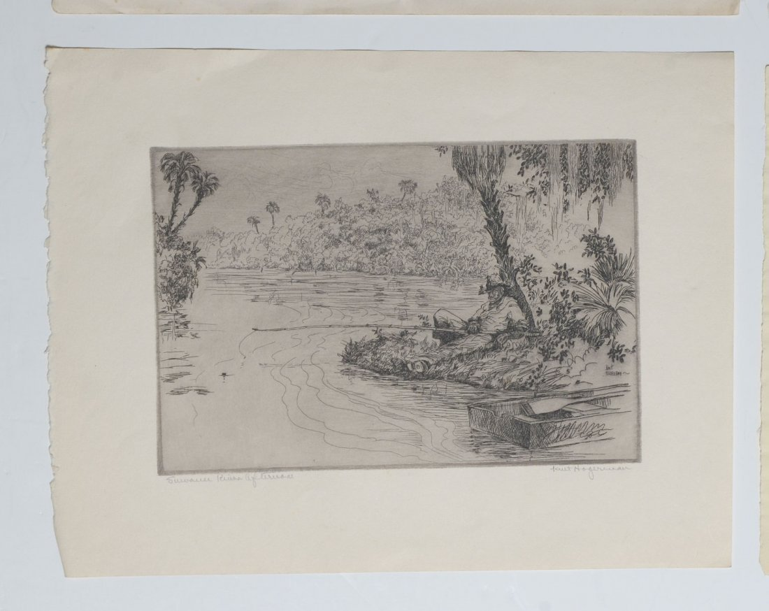COLLECTION OF 7 KENT HAGERMAN ETCHINGS - 3