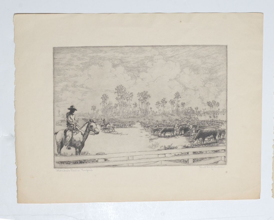 COLLECTION OF 7 KENT HAGERMAN ETCHINGS - 4