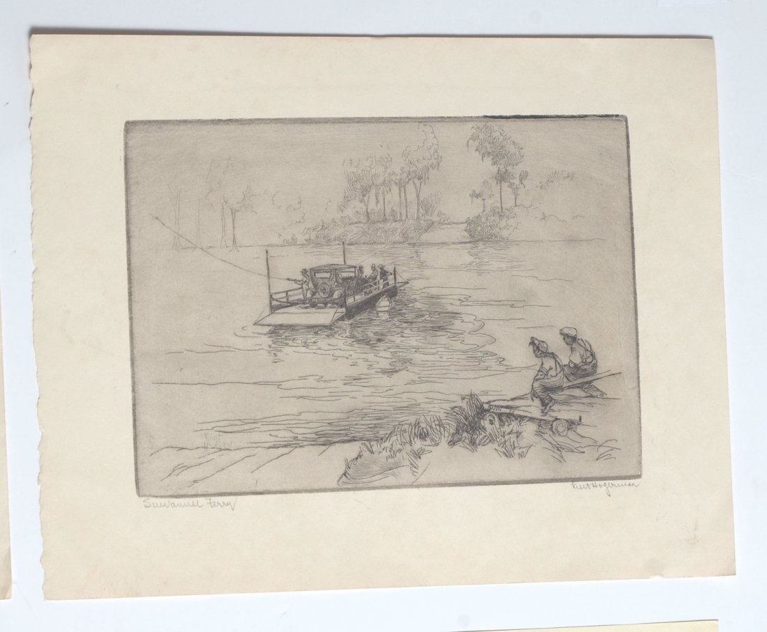 COLLECTION OF 7 KENT HAGERMAN ETCHINGS - 5