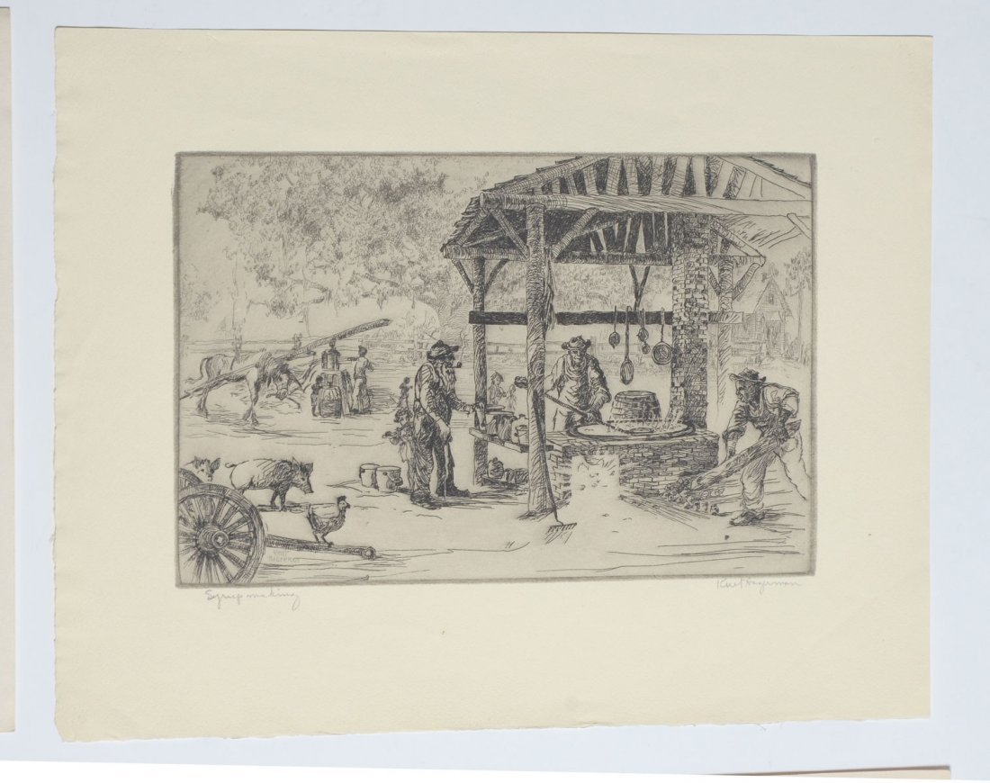 COLLECTION OF 7 KENT HAGERMAN ETCHINGS - 6
