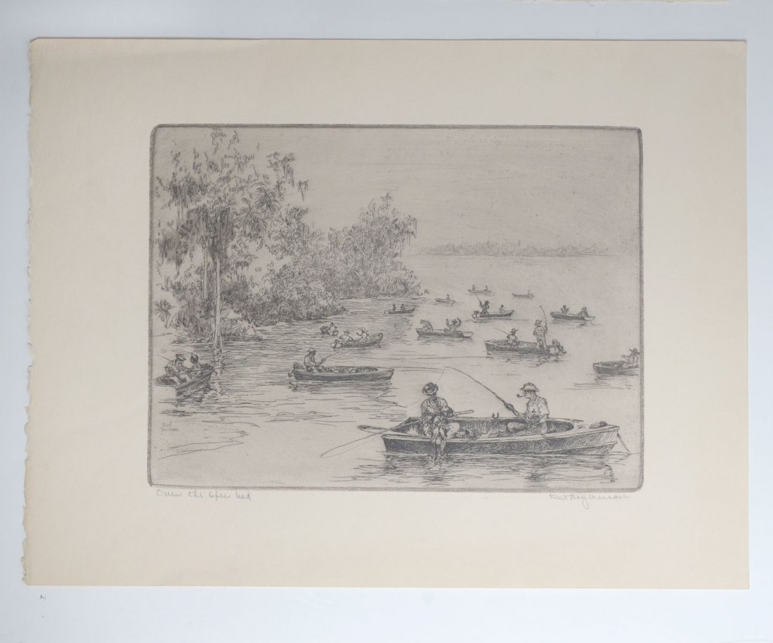 COLLECTION OF 7 KENT HAGERMAN ETCHINGS - 7