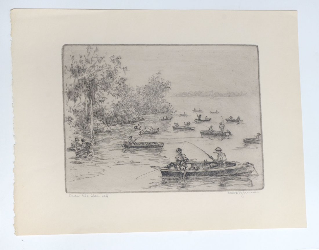 COLLECTION OF 7 KENT HAGERMAN ETCHINGS - 8