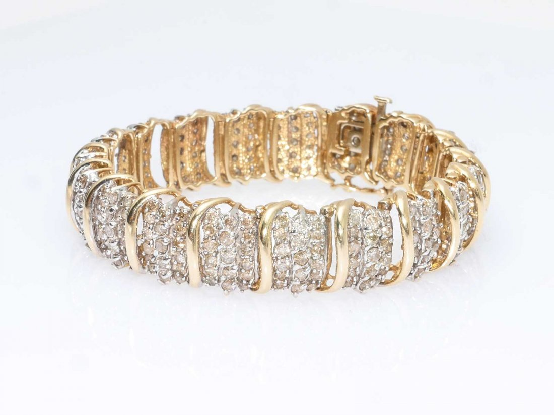 10K 8.00 CTW DIAMOND BRACELET - 2