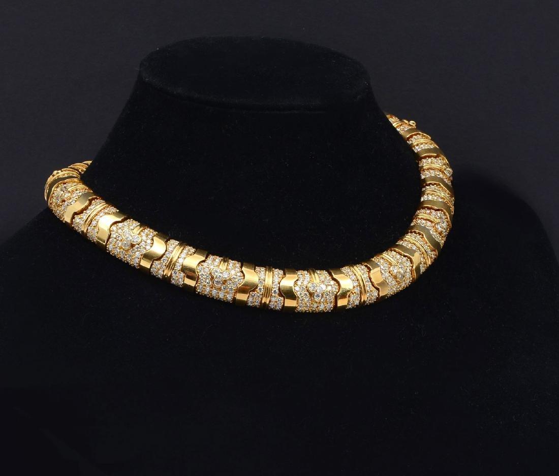 JERRY MADISON 18K GOLD & 27.95CTW DIAMOND NECKLACE