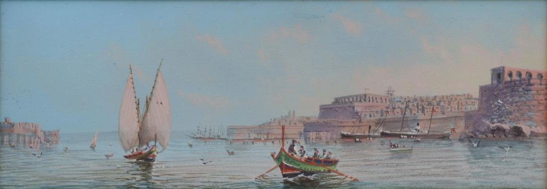 MALTA WATERCOLOR CIRCA 1900