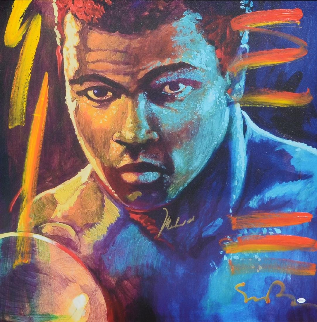 ''THE CHAMP'' PAINTING OF MUHAMMAD ALI BY SIMON BULL