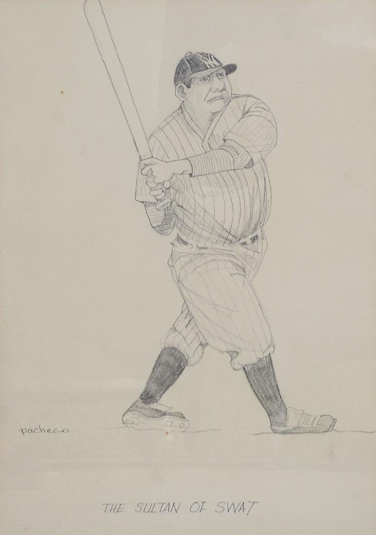 FERDIE PACHECO BABE RUTH DRAWING