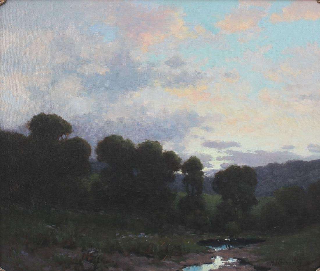 STOLTENBERG PAINTING ''AGAINST THE MORNING SKY''