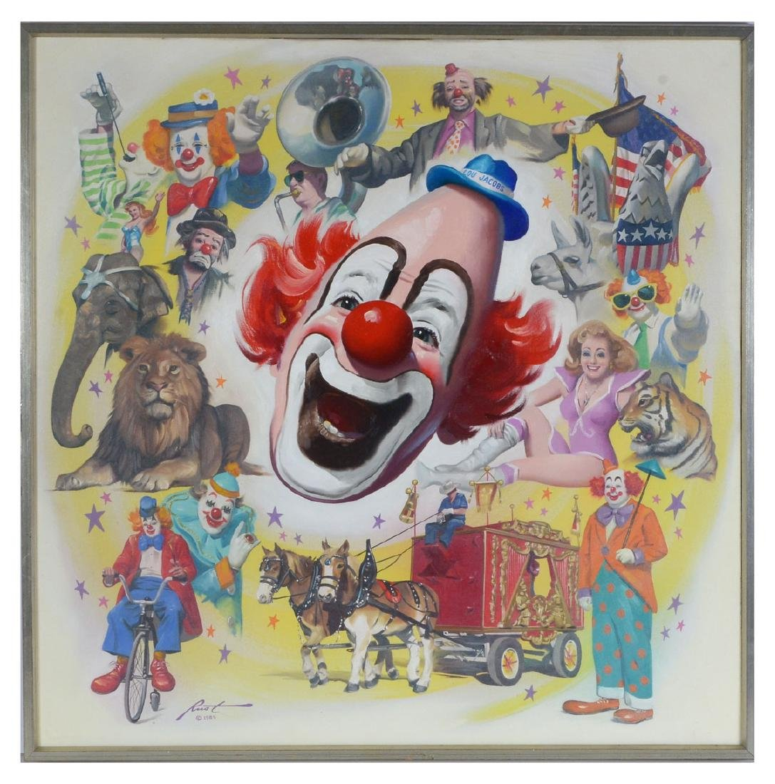DON RUST CIRCUS PAINTING