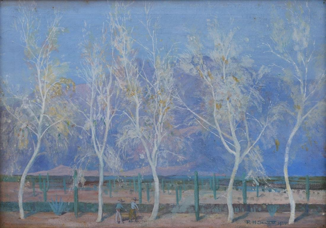 "R. H. SAUTER PAINTING ""THE GHOST TREES"""