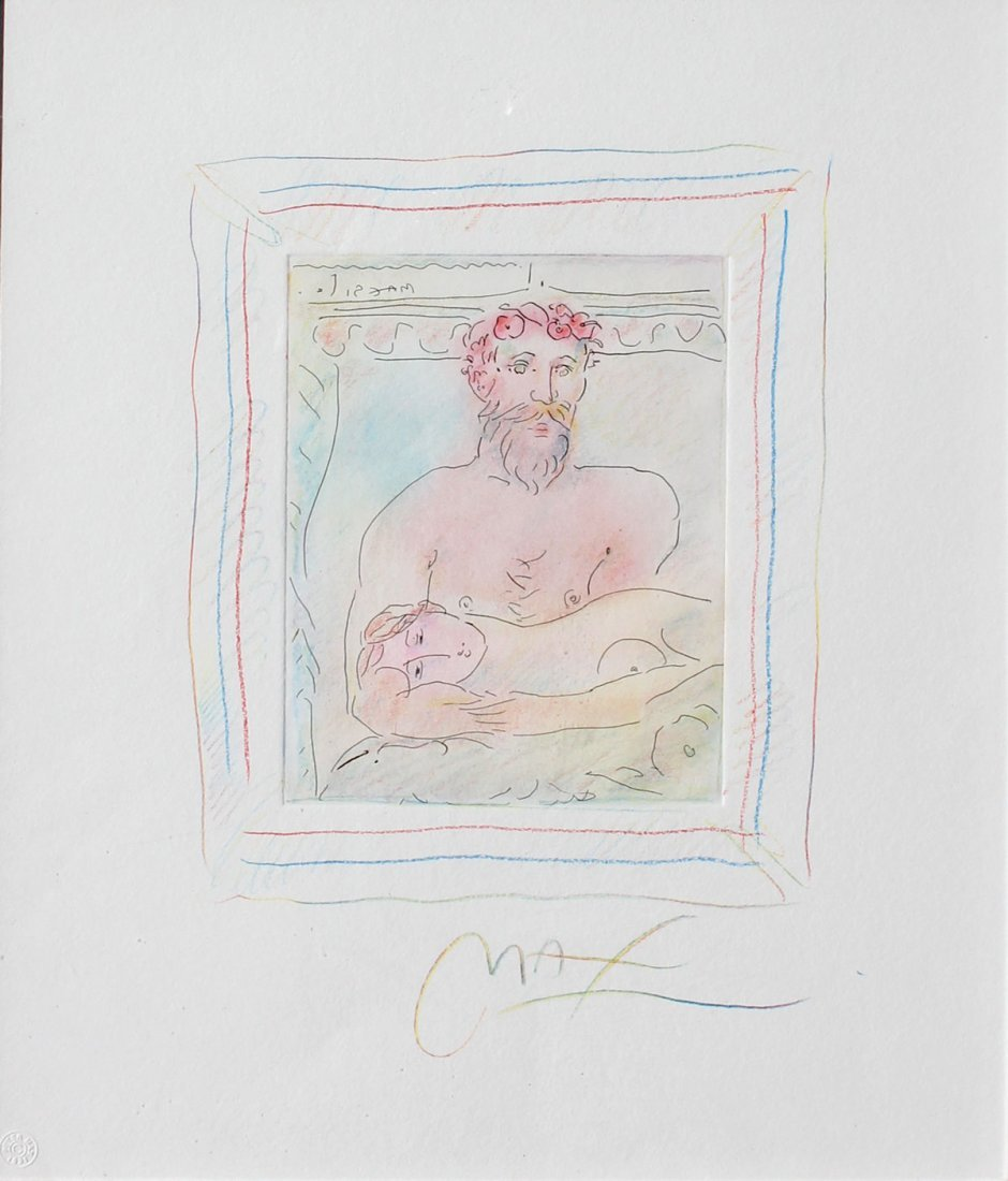 PETER MAX HOMAGE TO PICASSO ETCHING