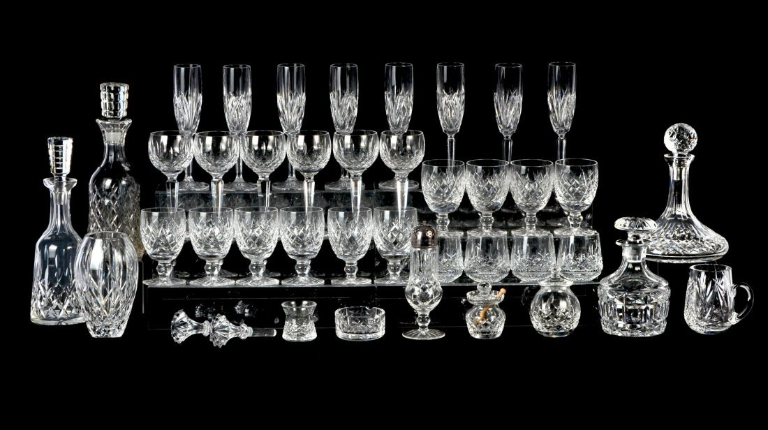 LARGE LOT OF WATERFORD GLASS: