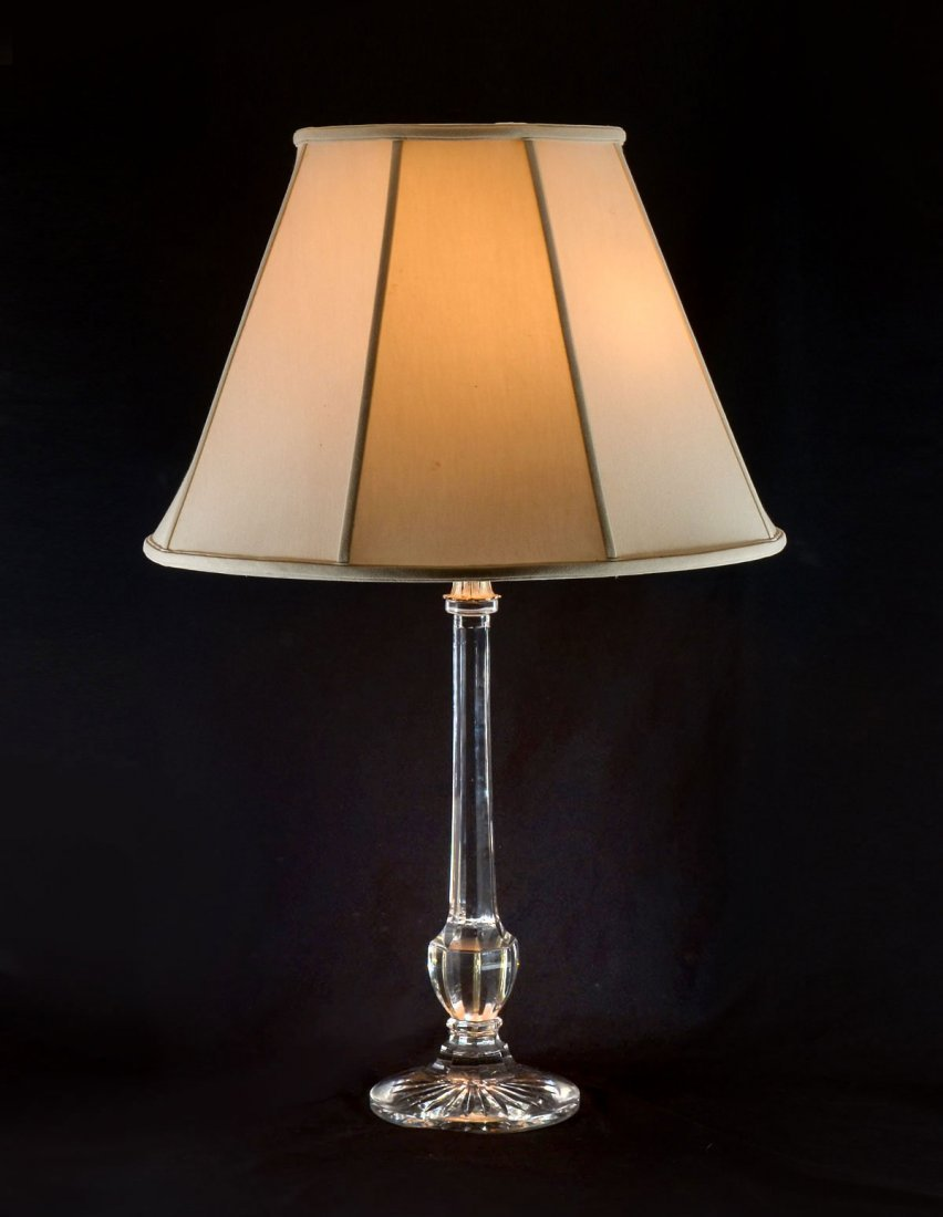 CRYSTAL 3-LIGHT LAMP W/ SHADE