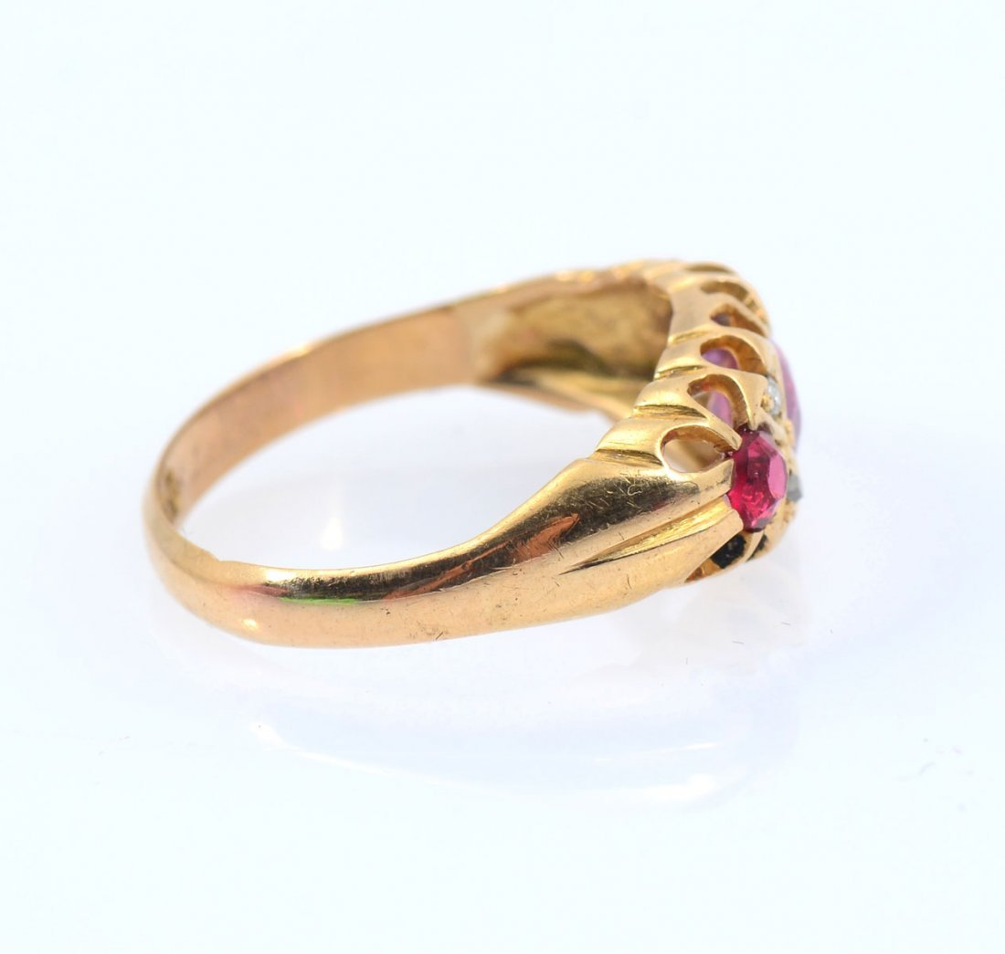 18K ANTIQUE RUBY RING - 2