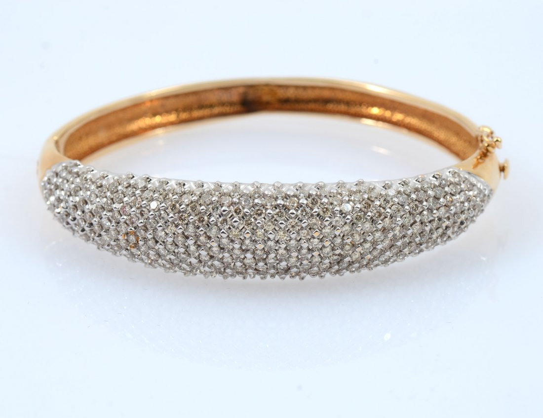 SPARKLING 14K DIAMOND BANGLE BRACELET