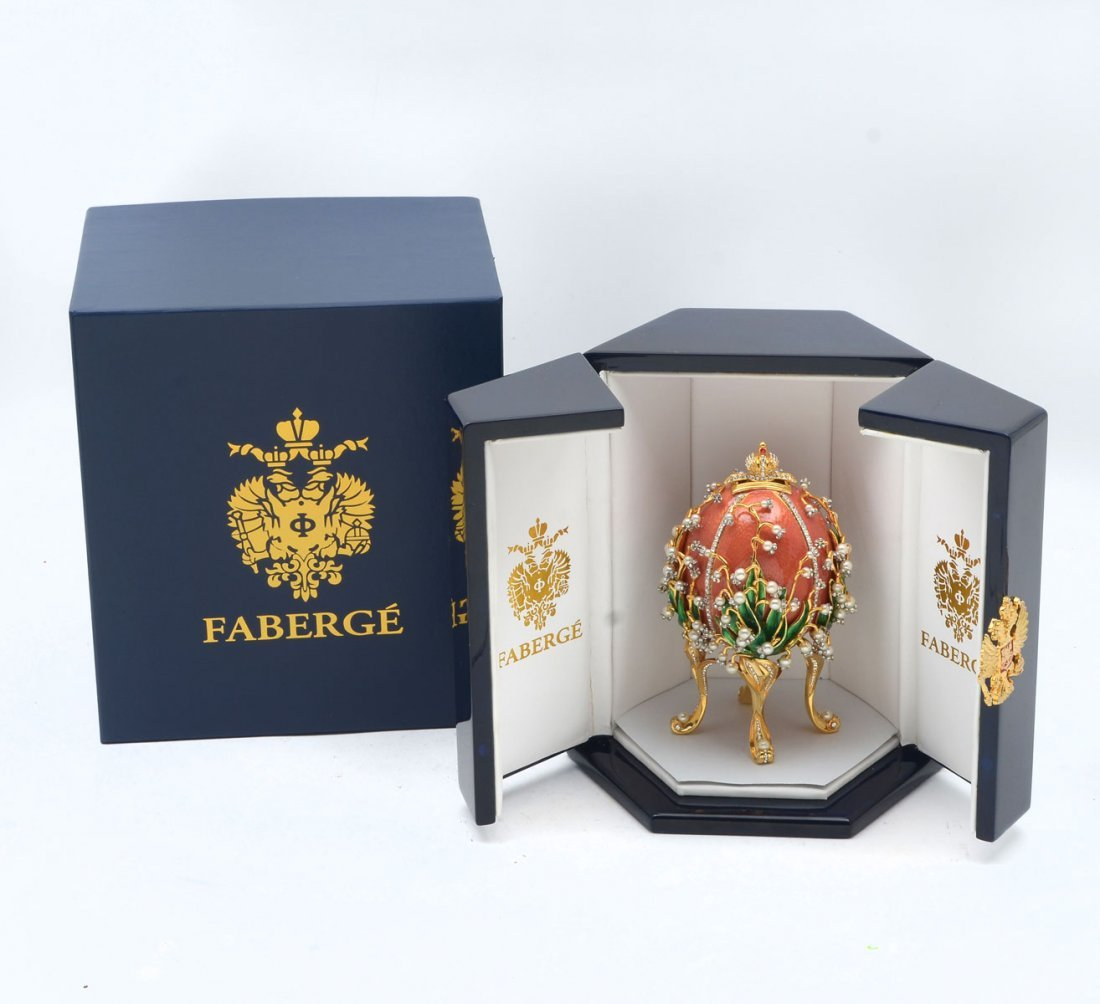FABERGE LILIES OF THE VALLEY EGG