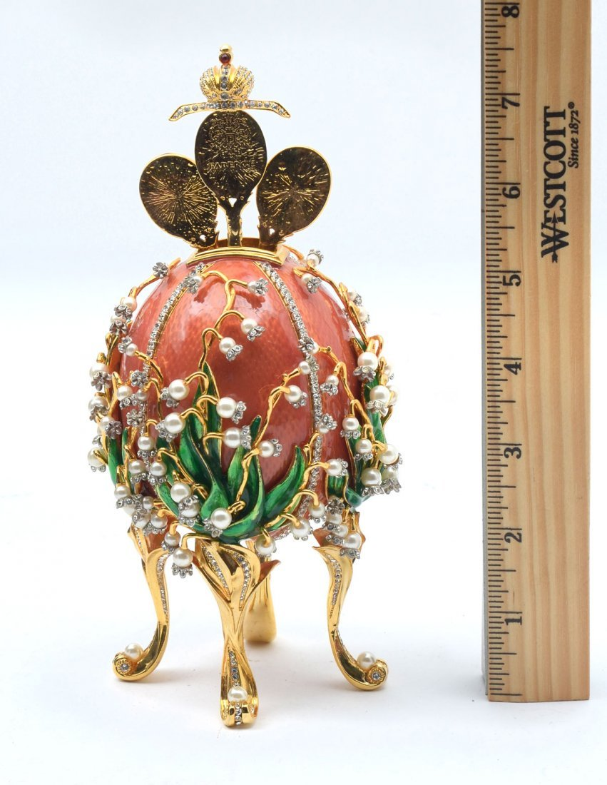 FABERGE LILIES OF THE VALLEY EGG - 3