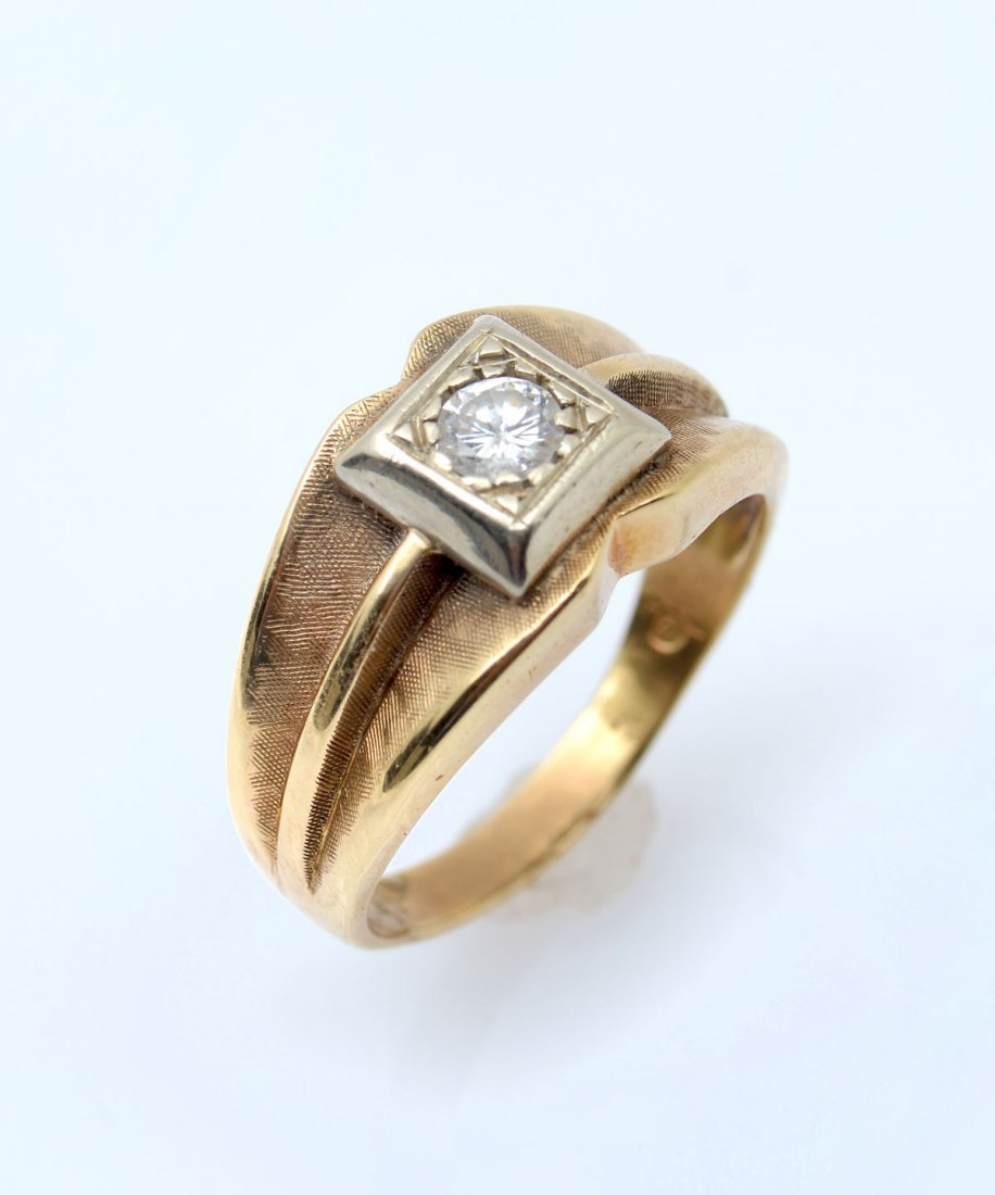 14K MENS DIAMOND RING