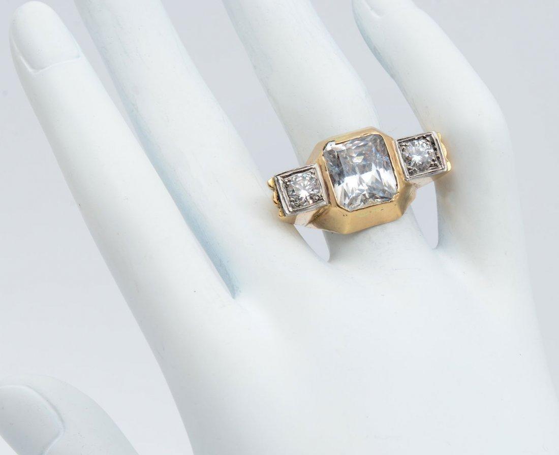 14K CZ & DIAMOND RING - 2