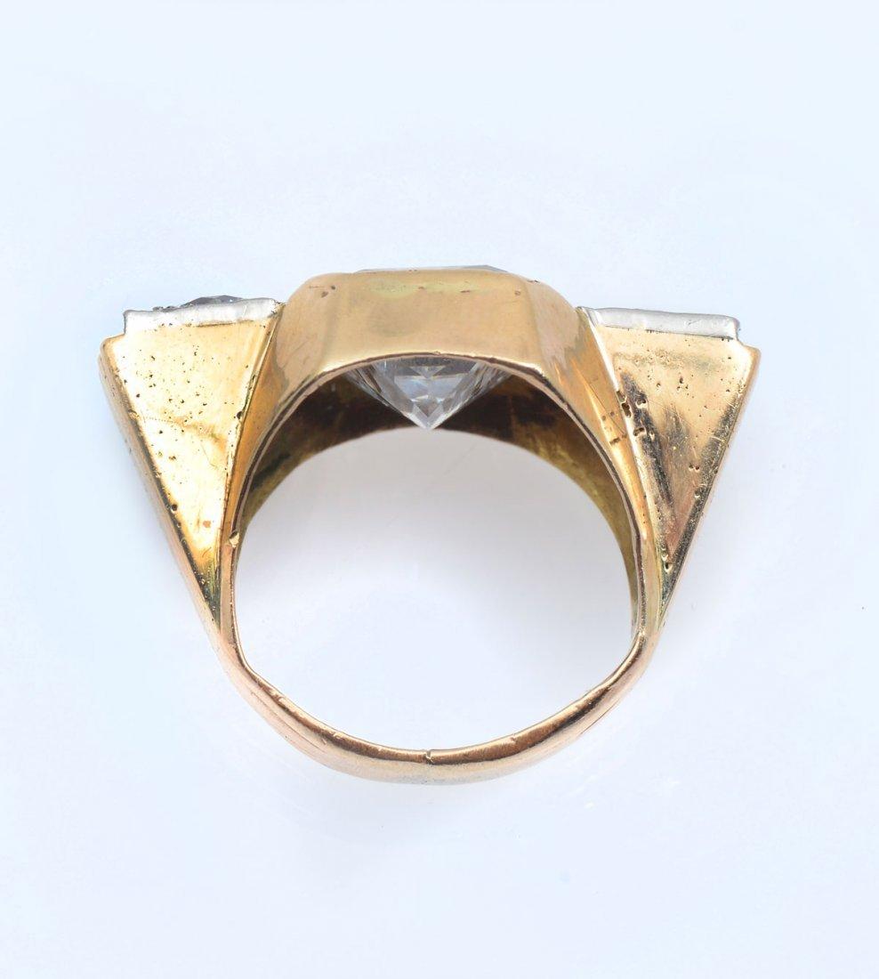 14K CZ & DIAMOND RING - 3