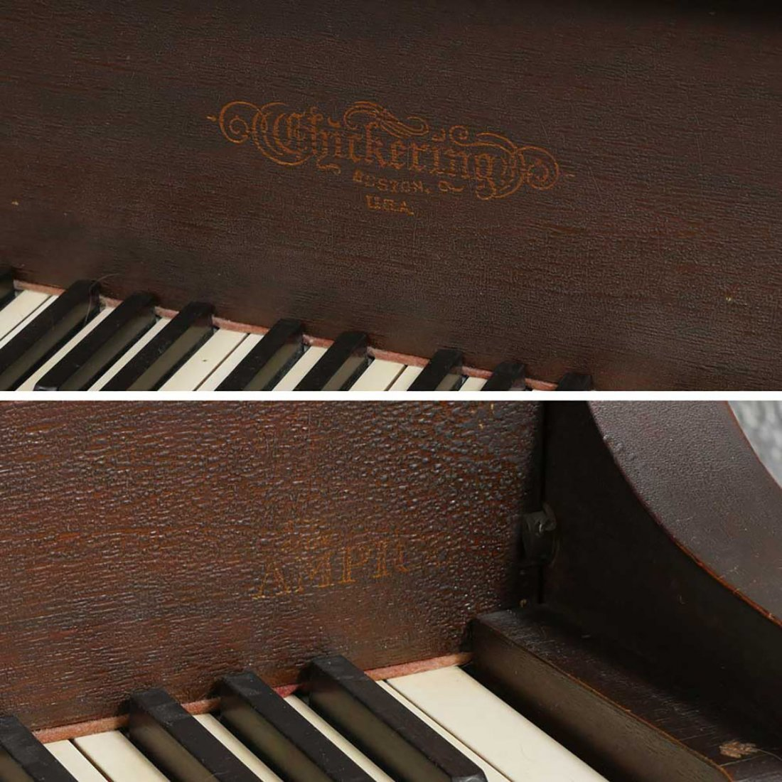 CHICKERING & SONS, BOSTON BABY GRAND PLAYER PIANO - 10