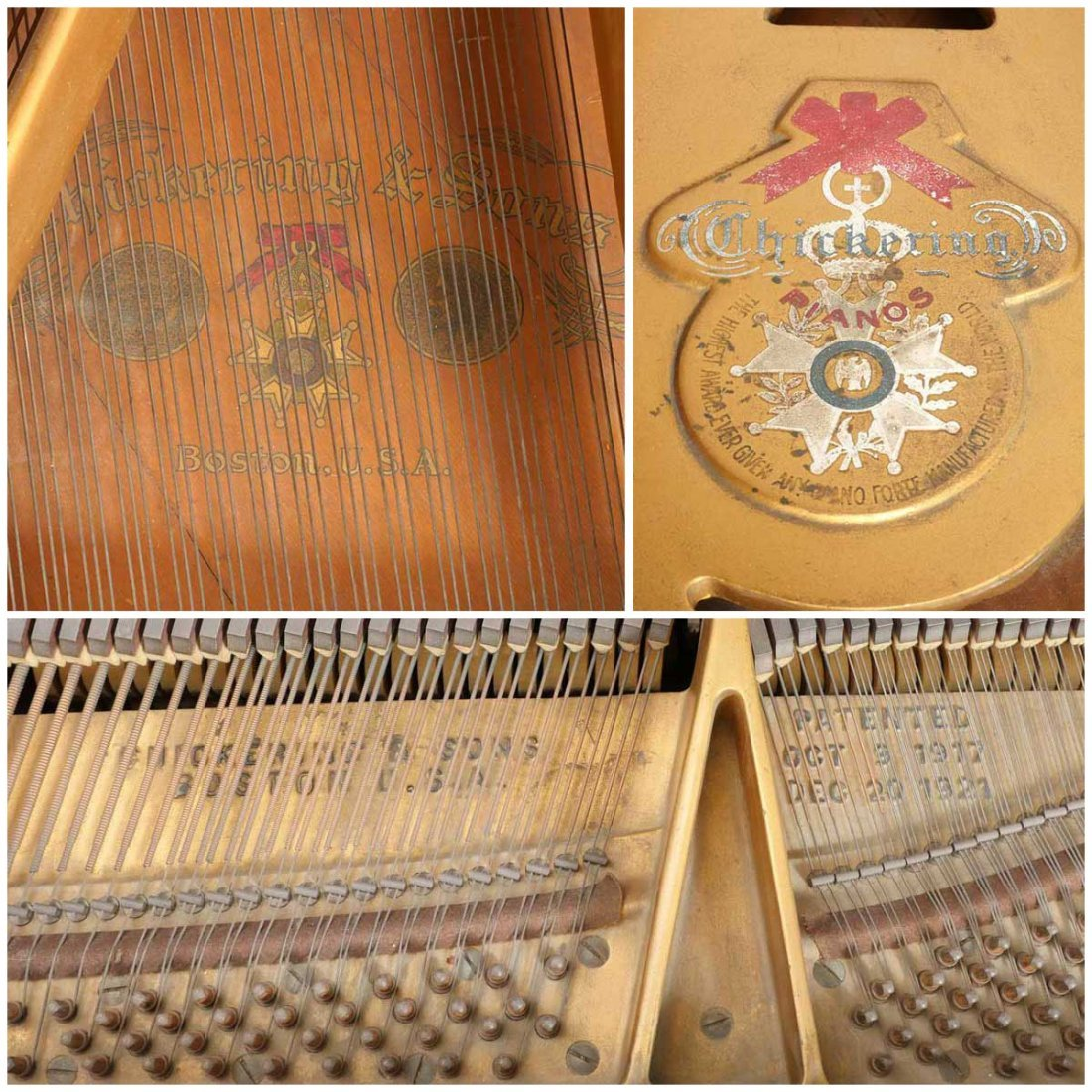 CHICKERING & SONS, BOSTON BABY GRAND PLAYER PIANO - 5