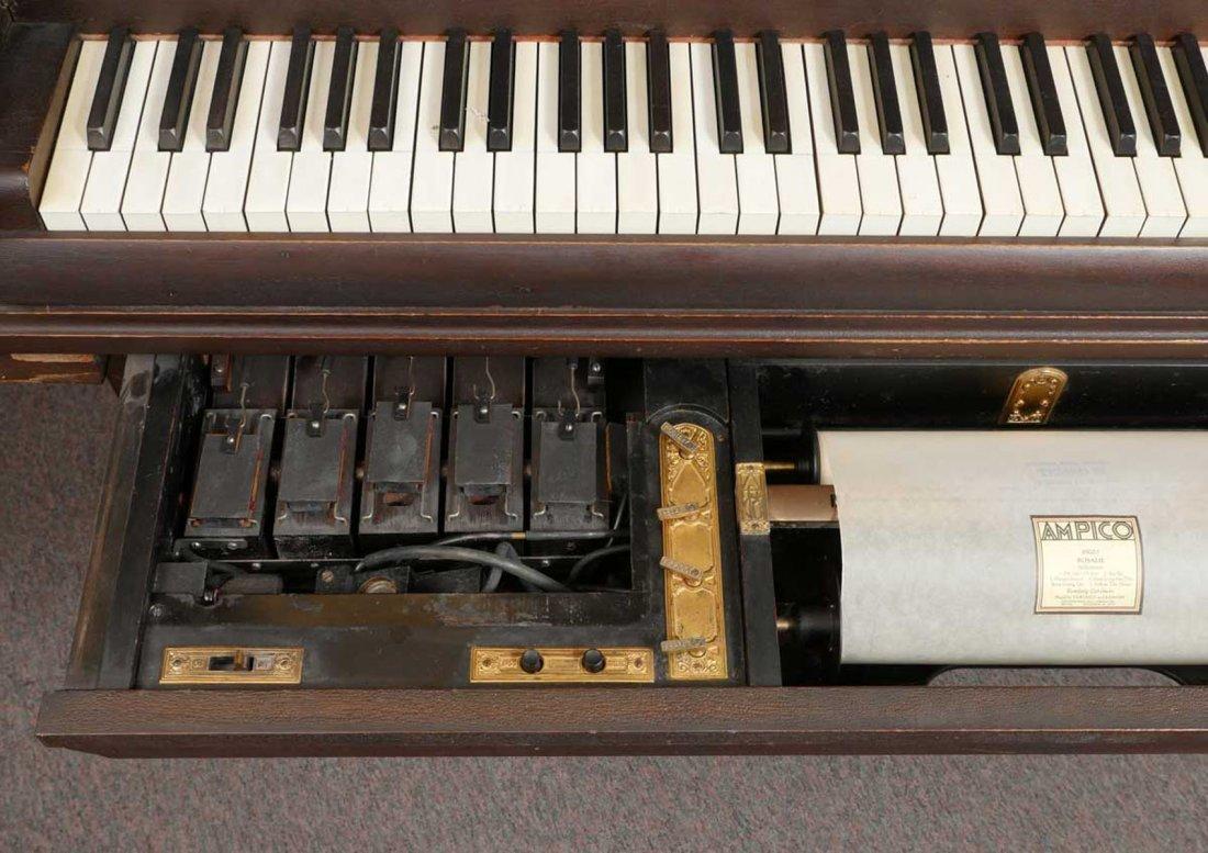 CHICKERING & SONS, BOSTON BABY GRAND PLAYER PIANO - 7