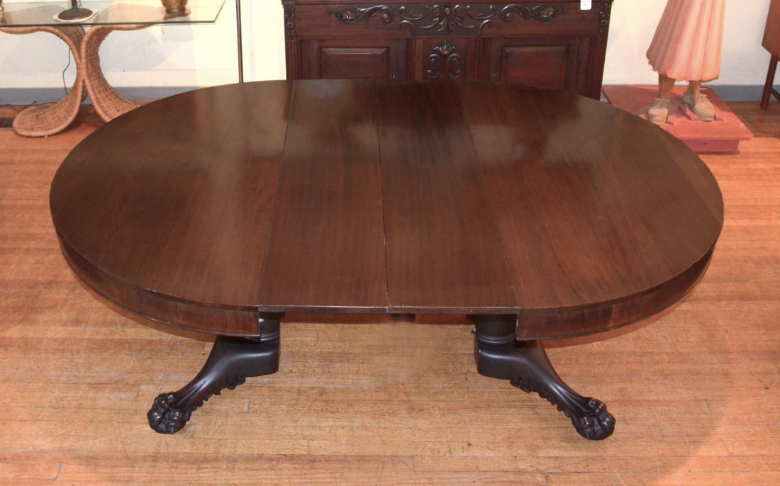 HORNER QUALITY CARVED MAHOGANY DINING TABLE - 3