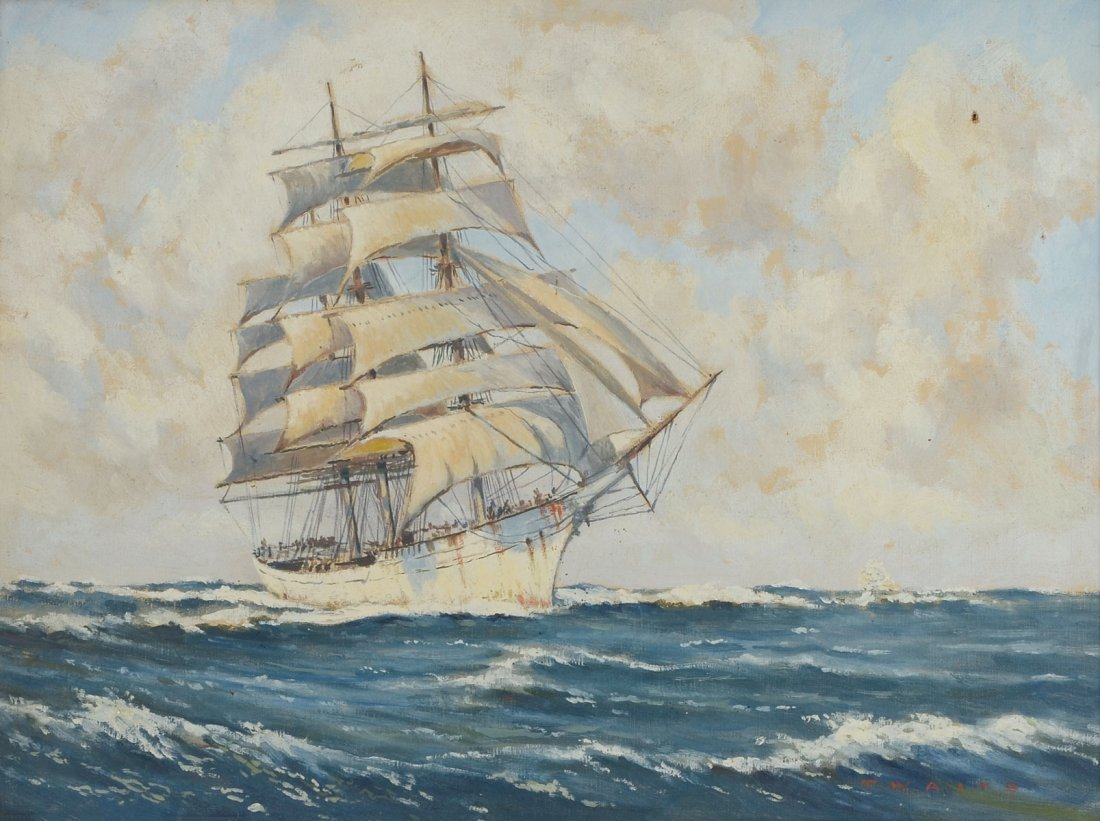 T. WAITE CLIPPERSHIP PAINTING