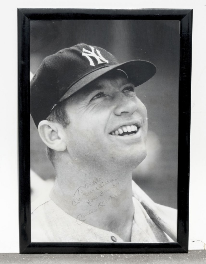 MICKEY MANTLE AUTOGRAPHED  PHOTO TO ANGELO DUNDEE